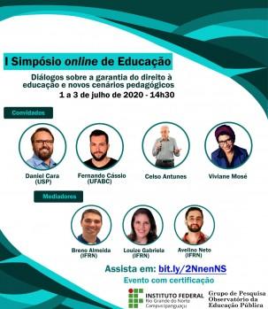 I Simpósio Online de Educação promovido pelo IFRN IPANGUAÇU